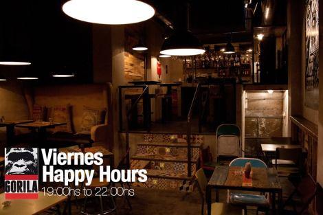 Bar Gorila - Happy Hours op vrijdag van 19:00 - 22:00