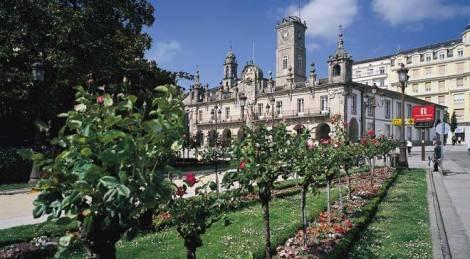 Plaza Mayor van Lugo Spanje